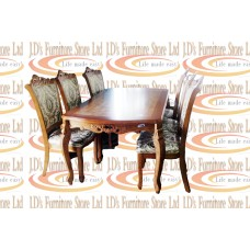 DINING SET-DARK OAK SET 7 PCS