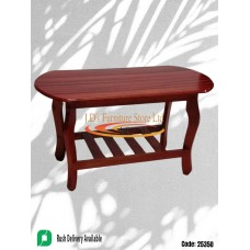 Red Stained MDF Coffee Table