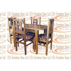 DINING SET 5PC TEAK SOLID TOP